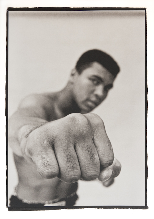 Muhammad Ali by Thomas Hoepker (Magnum Photos) a platinum print by Richard Freestone of 139 Printroom