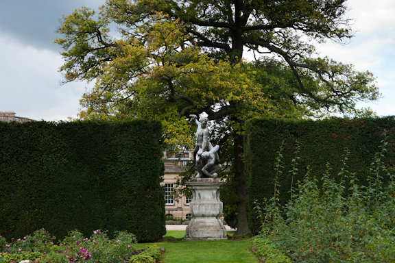 Sculpture in the garden at Chatsworth