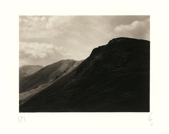 Great Gable. A platinum print by Richard Freestone of 139 Printroom for Jack Lowe