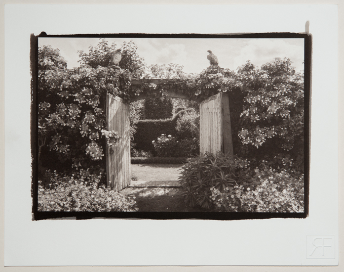 The Garden Gate. A platinum toned salt print. Richard Freestone of 139 printroom