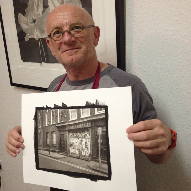 Keith Greenhough with one of his Platinum/Palladium prints